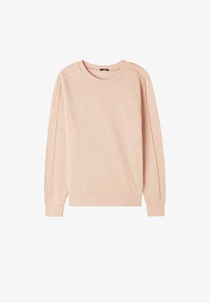 MIT RELIEFNÄHTEN - Sweatshirt - hellrosa - - soft beige