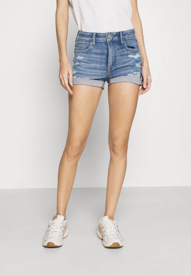 SHORTIE - Jeans Shorts - medium bright indigo