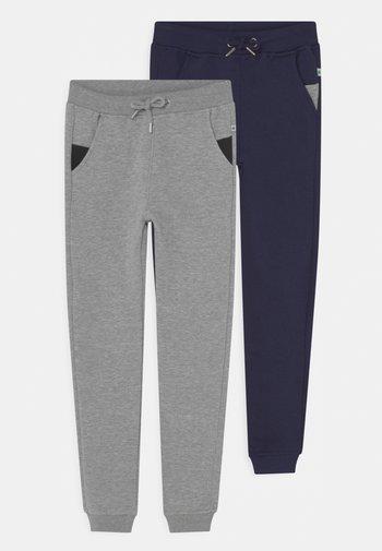 BASICS - Pantaloni sportivi - nachtblau/nebel melange
