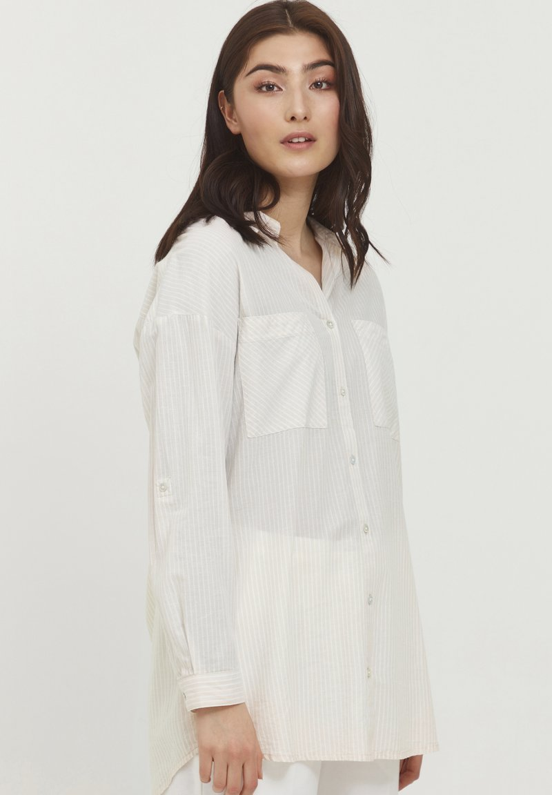 b.young - BYFIE STRIPE - Button-down blouse - oyster mix