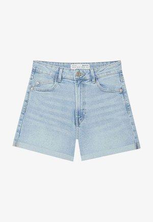 Short en jean - mottled light blue