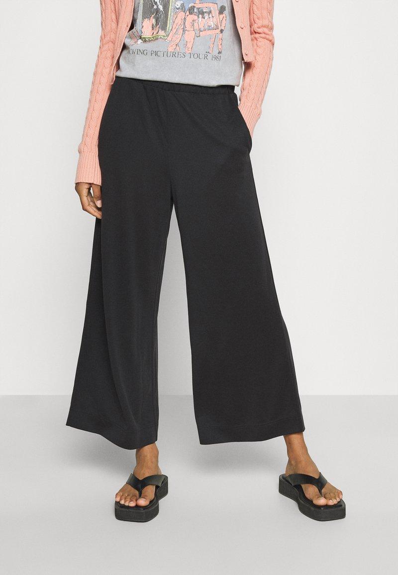 Monki - Trousers - black