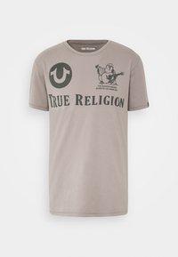 CREW ALLOVER LOGO  - T-shirt con stampa - grey