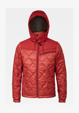 ATTACC HEATSEAL QUILTED HOODED - Winter jacket - dry red