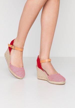 NEW PALMER - High heeled sandals - rojo