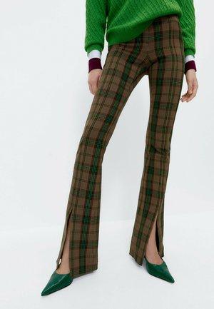 Karierte  - Trousers - brown