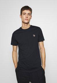 PS Paul Smith - SLIM FIT ZEBRA - Basic T-shirt - navy - 0