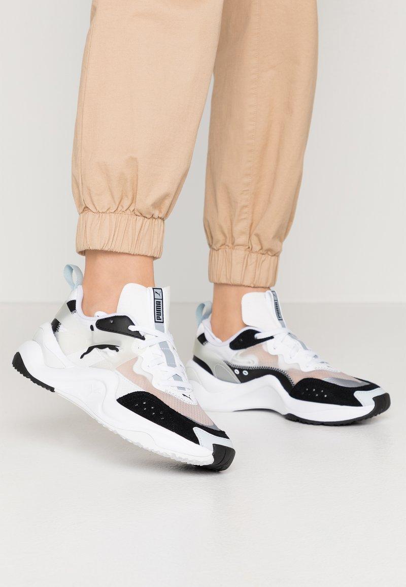 Puma - RISE - Sneakers - black/white