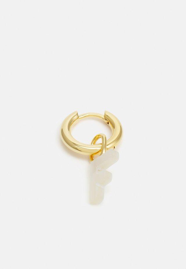 LUCID LETTER HUGGIE F - Oorbellen - gold-coloured