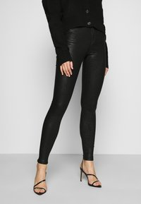 Vila - VICOMMIT  - Trousers - black/glitter - 0
