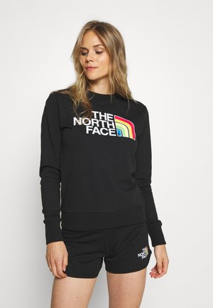 RAINBOW CROPPED CREW - Sweatshirt - black