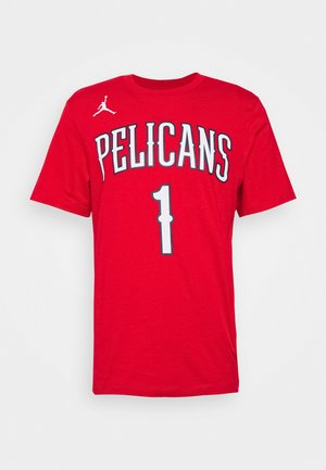 NBA NEW ORLEANS PELICANS ZION WILIAMSON NAME & NUMBER TEE - Camiseta estampada - university red