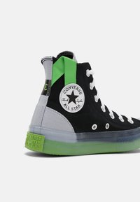 Converse - CHUCK TAYLOR ALL STAR COLORBLOCKED - High-top trainers - black/gravel/bold wasabi - 6