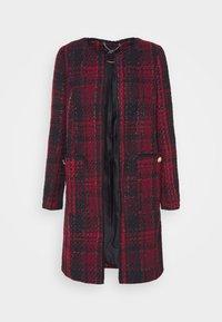 Wallis - CHECK COLLARLESS COAT - Blazer - red - 3