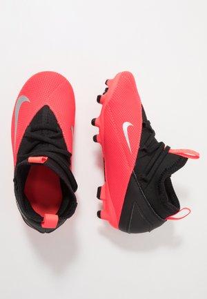 JR PHANTOM VISION CLUB FG/MG - Moulded stud football boots - laser crimson/metallic silver/black