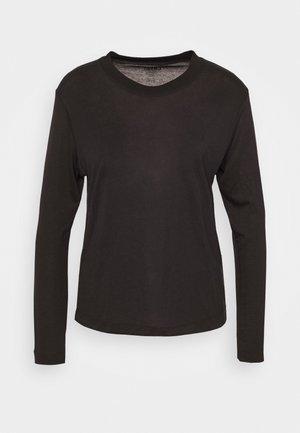 EASE CREW NECK - Långärmad tröja - black