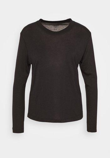 EASE CREW NECK - Long sleeved top - black