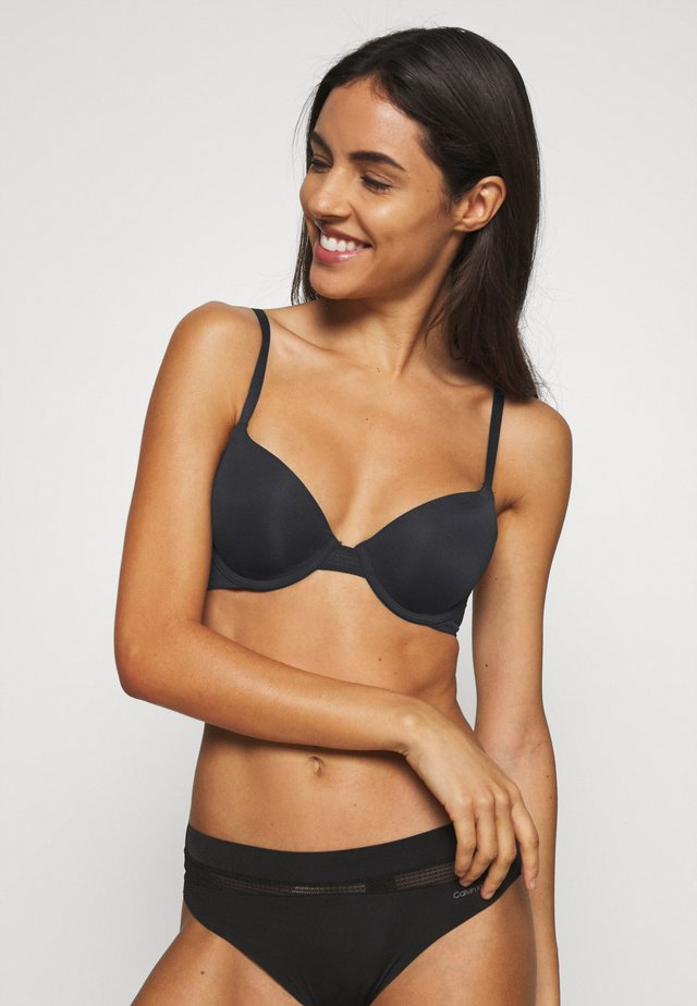 PERFECTLY FIT FLEX LIGHTLY LINED DEMI - T-shirt bra - black