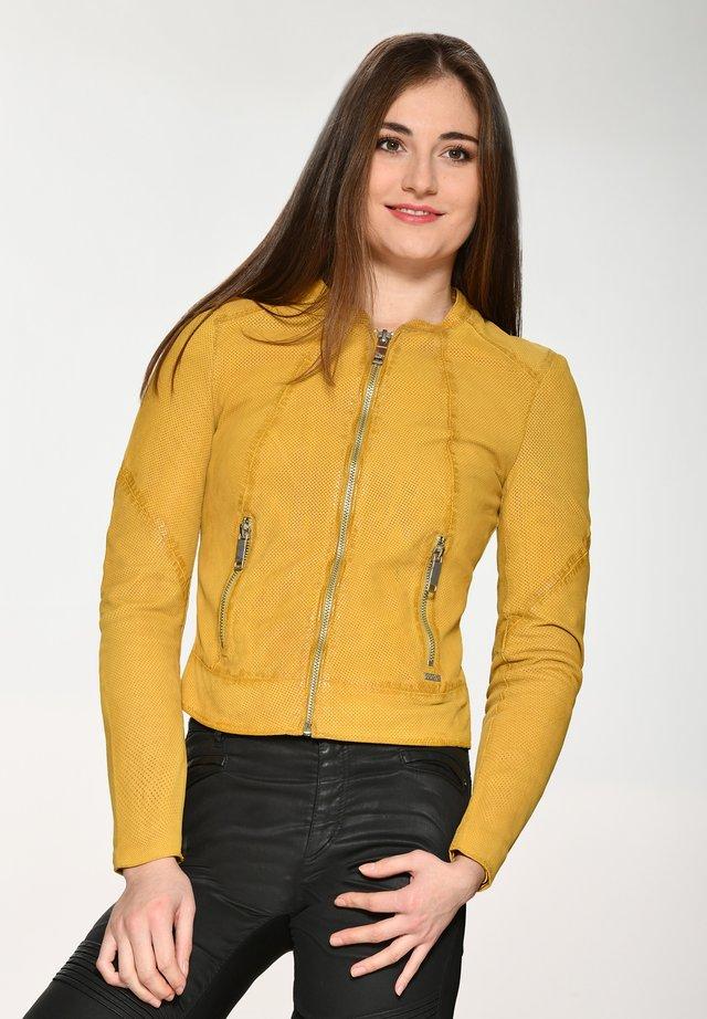 Leren jas - yellow