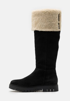 WARM LINED LONG BOOT - Botas - black
