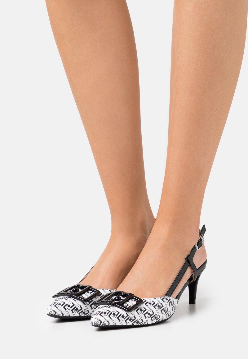 Liu Jo Jeans - KATIA SLING BACK  - Classic heels - black/white