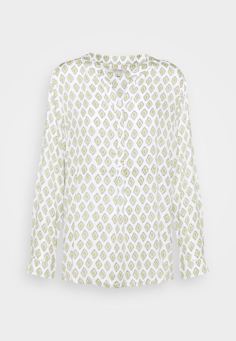 comma casual identity - LANGARM - Blouse - offwhite