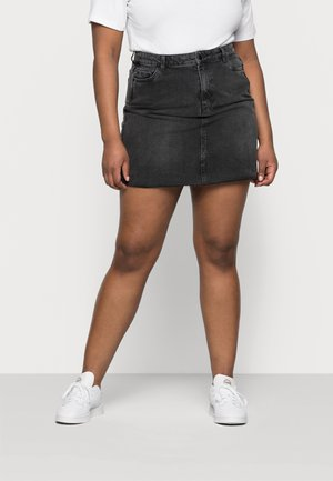 VMMIKKY RAW SKIRT MIX - Mini skirt - black