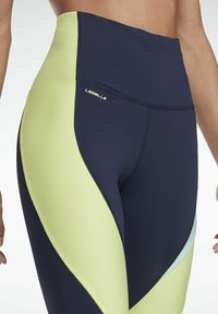 Reebok - LES MILLS® HIGH-RISE COLORBLOCK LUX LEGGINGS - Leggings - blue - 2