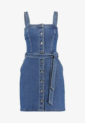 SHORT DRESS - Denim dress - blue denim