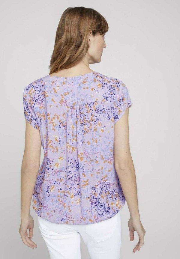 TOM TAILOR Bluzka - lilac yellow flower design/fioletowy MOOL