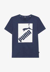 Puma - BIG LOGO TEE - T-shirt print - dark denim - 2