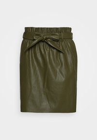 VMAWARDBELT SHORT COATED SKIRT - Áčková sukně - ivy green