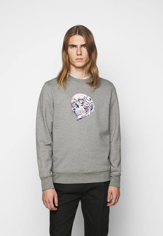 MENS REGULAR FIT SKULL - Sweater - grey