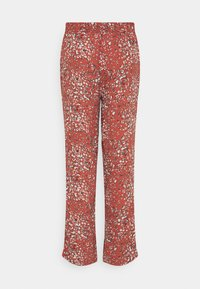 b.young - BYFLAMINIA LEO PANTS - Trousers - etruscan red mix - 1