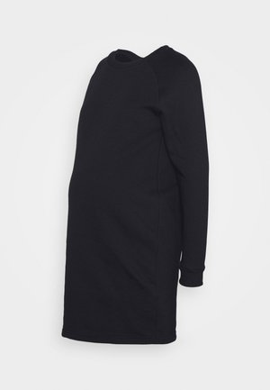 MATERNITY SWEAT DRESS  - Jerseykjoler - black