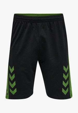 HMLACTION COTTON SHORTS - Sports shorts - black/cactus