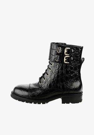 MACOMER - Šněrovací kotníkové boty - black