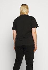 Dr.Denim Plus - MELROSE PLUS TEE - Print T-shirt - black wordmark - 2