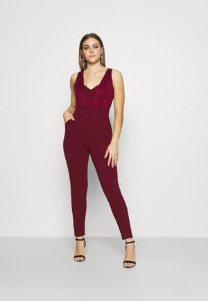 EMELY LACE CUT OUT - Jumpsuit - wine