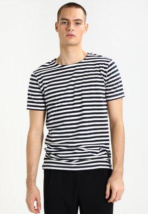 STRIPE - T-shirt print - navy/white