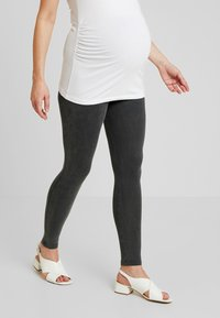 New Look Maternity - ACID WASH - Leggings - Trousers - black - 0