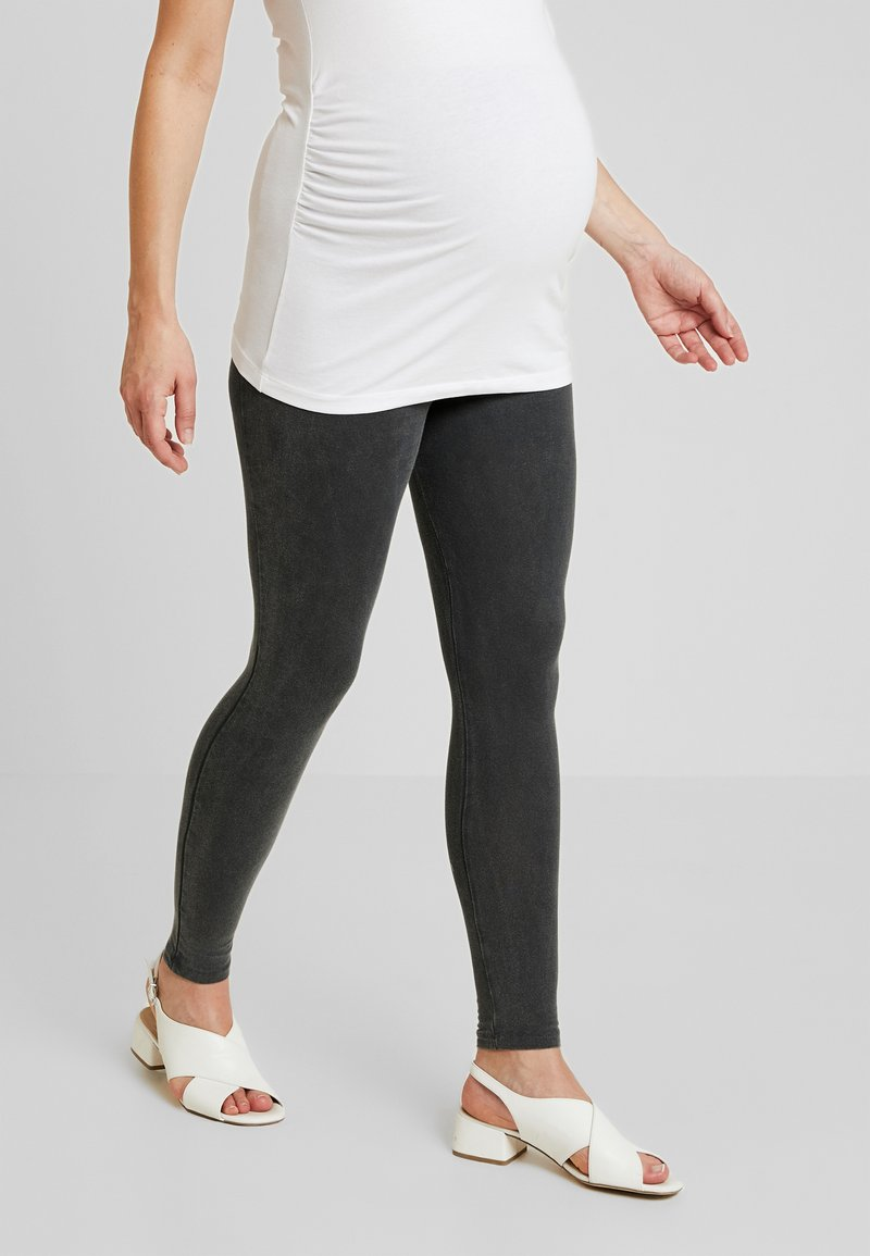 New Look Maternity - ACID WASH - Leggings - Trousers - black