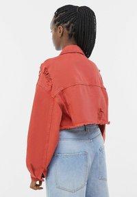 Bershka - Denim jacket - red - 2