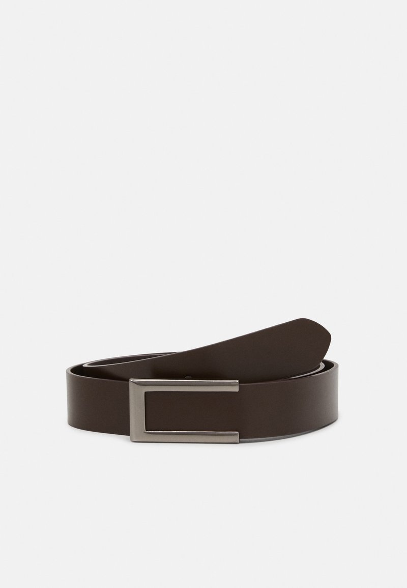 Zign - LEATHER - Pasek - dark brown