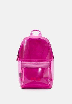 TRANSPARENT BACKPACK UNISEX - Tagesrucksack - super pink