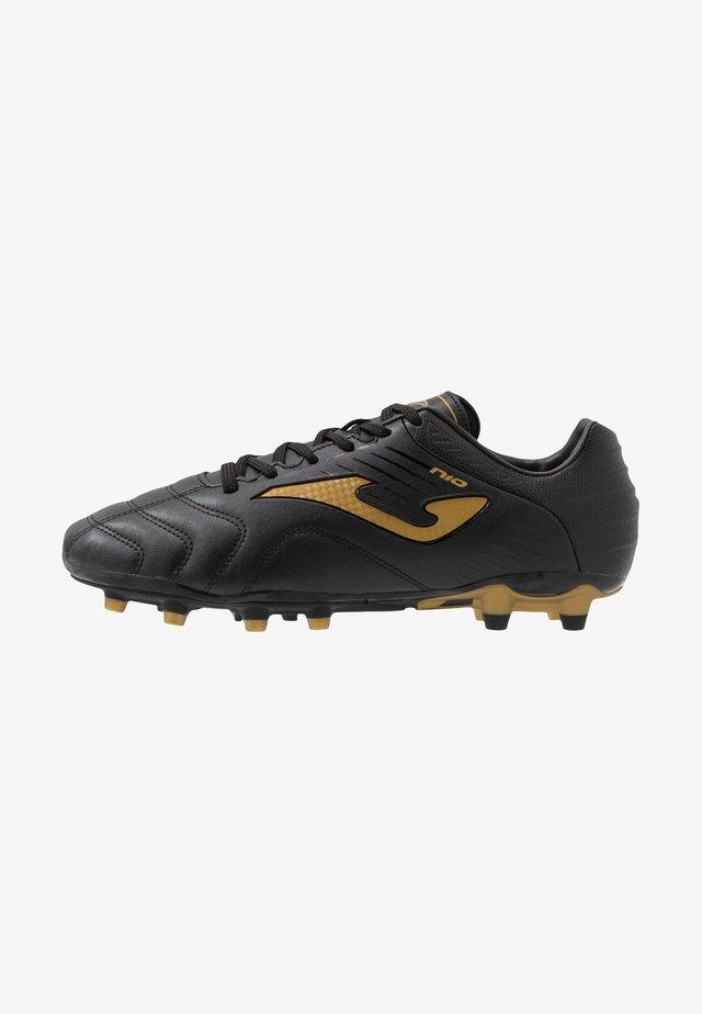 N10 - Voetbalschoenen met kunststof noppen - black