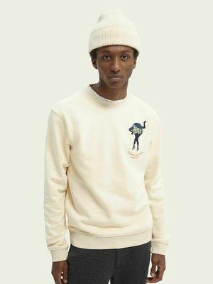 EMBROIDERED GRAPHIC  - Sweatshirt - beige
