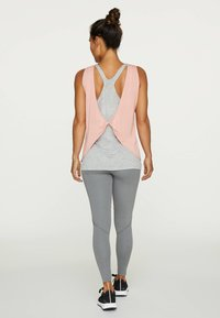 OYSHO - MODAL DOUBLE T-SHIRT - Top - rose - 1