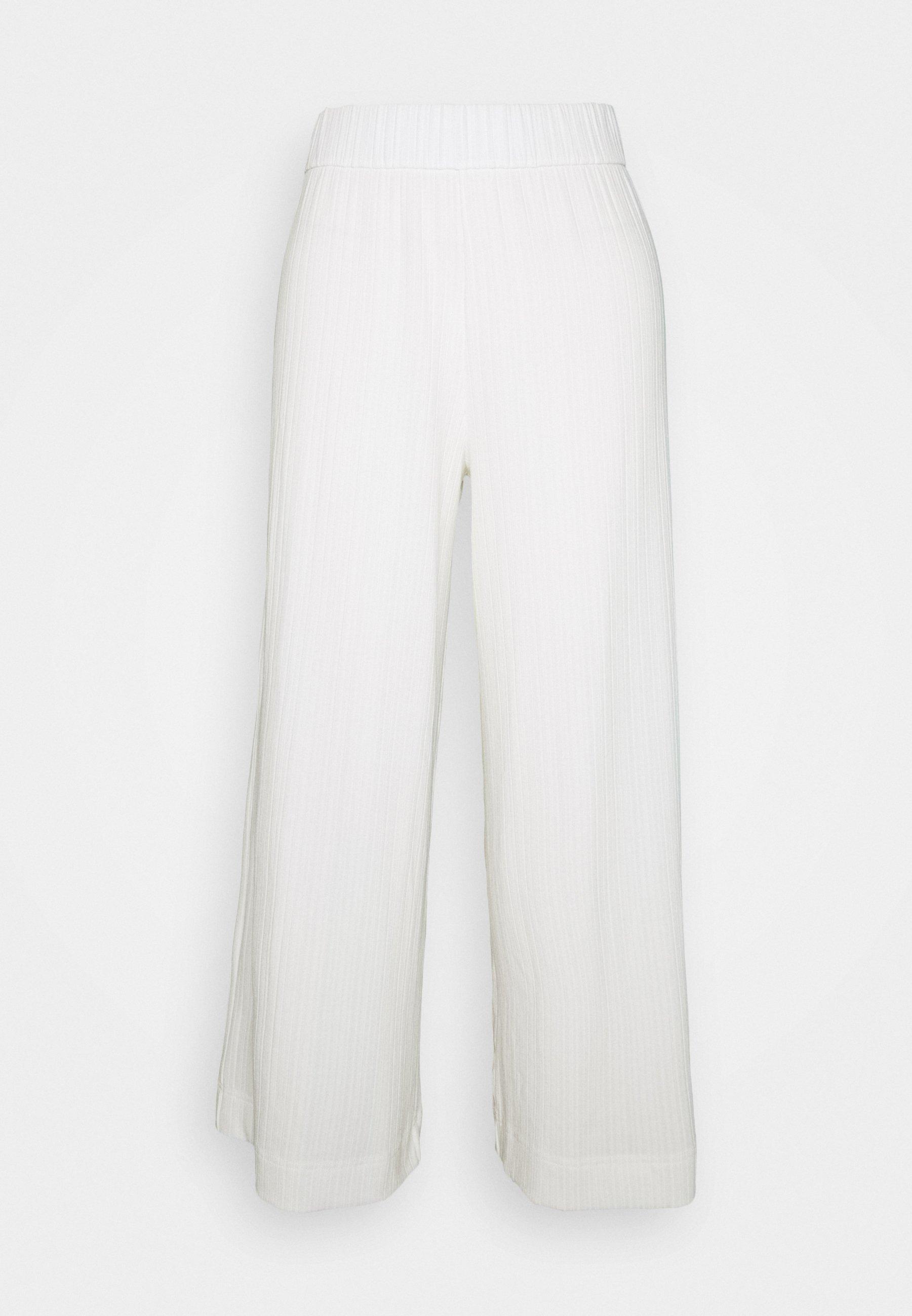 Monki CILLA TROUSERS - Bukse - white light