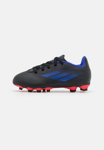 X SPEEDFLOW.4 FXG UNISEX - Moulded stud football boots - core black/sonic ink/solar yellow